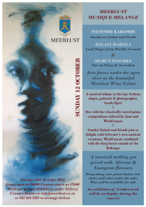 Meerlust - Ster - Concert - Wine - World Music